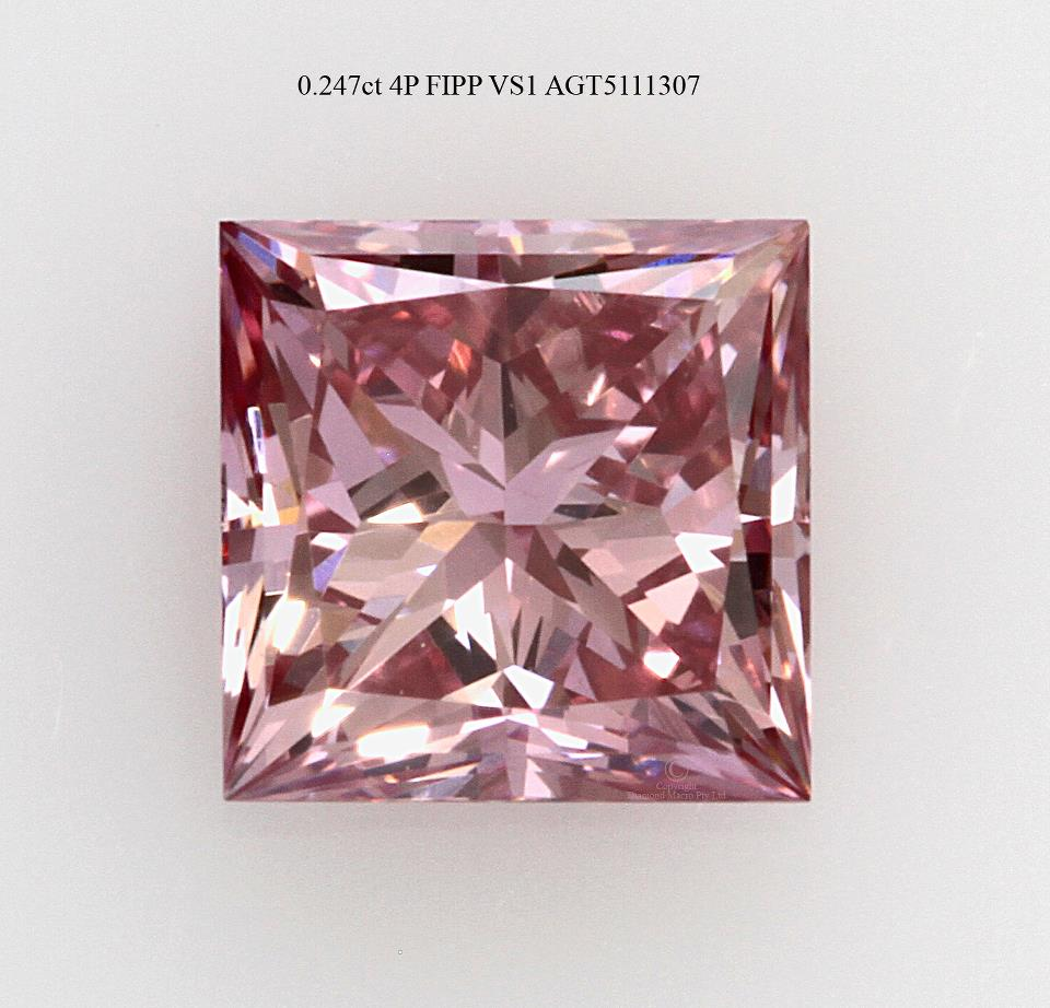 Perfect pink princess diamond, courtesy of the Argyle mine. Photo courtesy of John Mann.