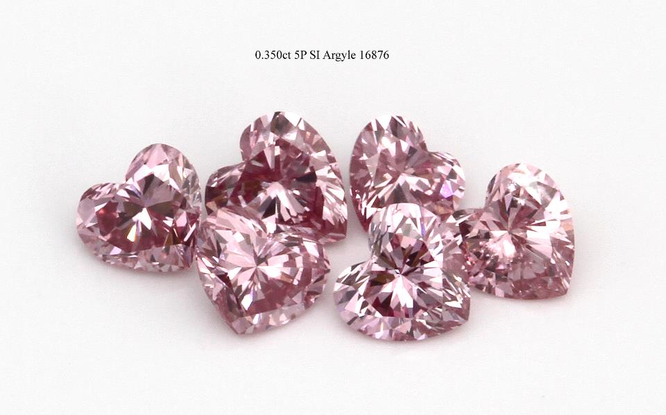 Pink heart diamonds, photo courtesy of John Mann. if you like this, follow us on